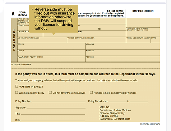 Fill Out a Dmv Accident Report