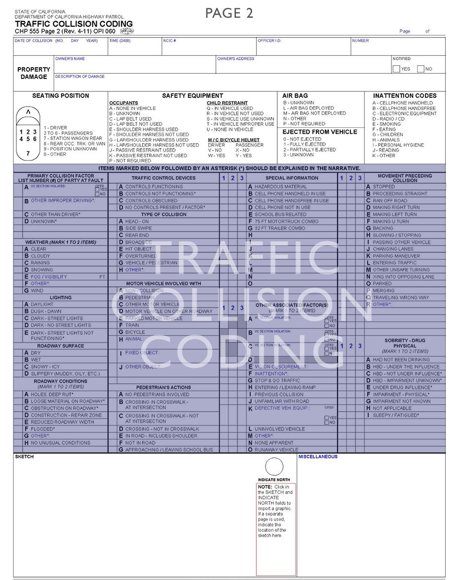 Traffic Collision Coding